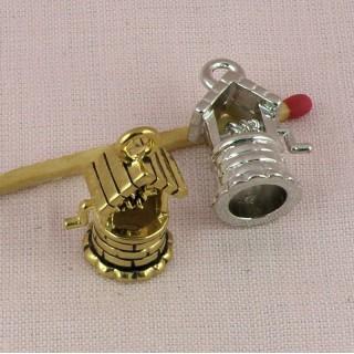 Seau miniature métal, breloque, charm, pendentif, 2,5cm.