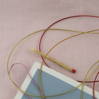 Metallic cord 1 mm.