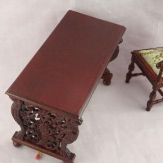 Table bureau miniature maison poupée
