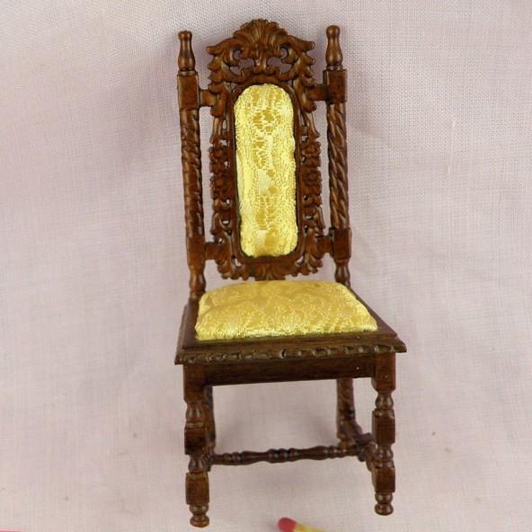 Chaise ancienne miniature maison poup e - Chaise escabeau ancienne ...