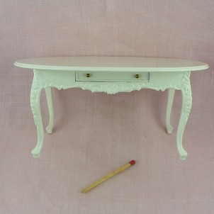 Dining room table miniature, doll house living room