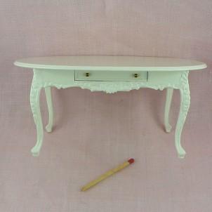 Table salle à manger miniature maison de poupée