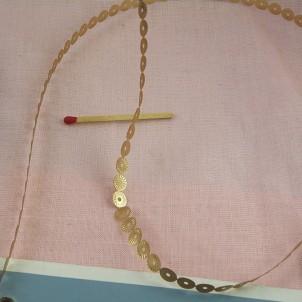Galon ruban sequins paillettes métallisées 4 mm.