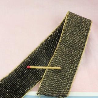 Elastic belting for insertion, elastic grosgrain 40 mms