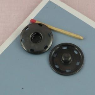 Big metal pressure stud fastener, snaps closure 28 mms