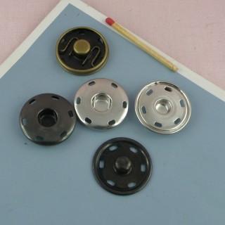 Bouton pression métal 6mm