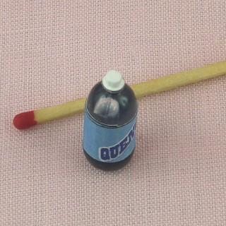 Sparkling water bottle miniature for doll house 25 mms