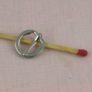 Boucle ronde à ardillon miniature 14 mm