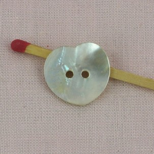 Big Buttons heart mother of pearl two holes.