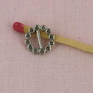 Miniaturpassantenschleife umklammert STRASS Puppenschuhe