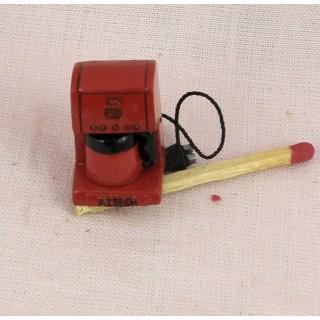 Machine à café miniature cuisine poupée 1/12 eme