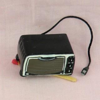 Four Micro-ondes miniature cuisine poupée 1/12 eme