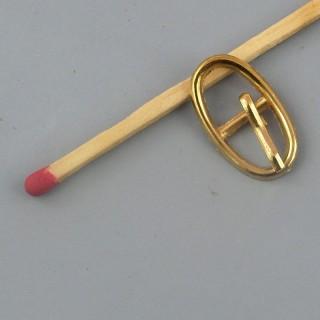 Boucle métal ovale petite, mini ceinture poupée. 1,8 cm