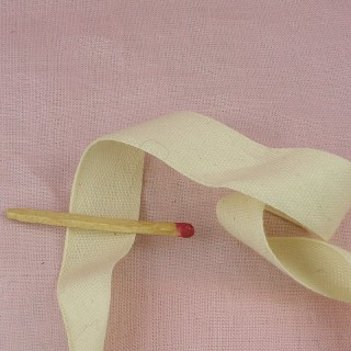 Cotton twill tape naturel 2 cms