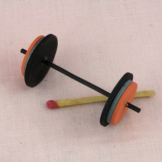 Small Mini exercise bar bells doll miniature