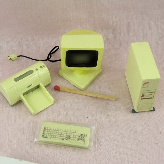 Miniature Computer set for doll house