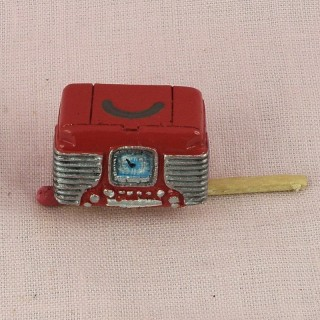 Vintage radio retro dollhouse miniature