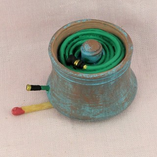 Miniature copper house pot for doll house garden.