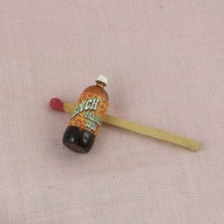 Botella agua con gas miniatura casa muñeca