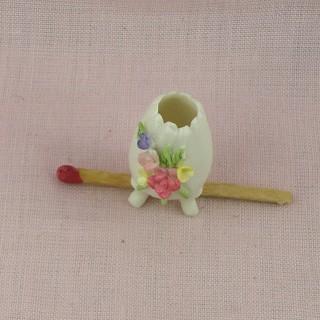 Broc et cuvette porcelaine miniature poupée, 3cm.