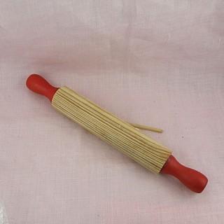 Pequeño Rodillo pastelería madera cocina muñeca 17 cm.