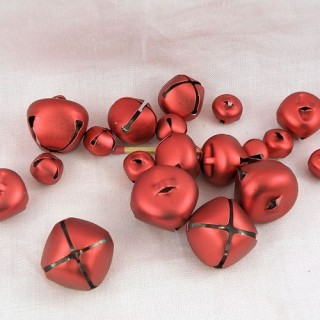 Set 19 Metallic assorted jingle bells red