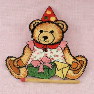 Iron on Embrodery bear badge, Teddy bear patches.