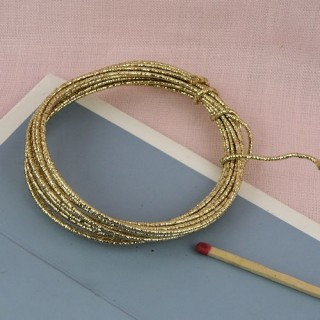 Glitter wire gold 2 mms