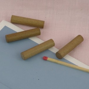 Logs for fireplace miniature doll house