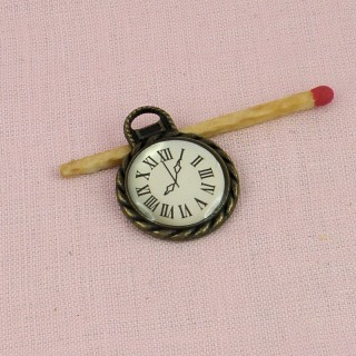 Watch with fob, Pendant, doll jewel, 19 mm