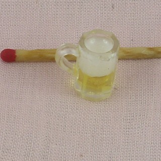 Chope de bière miniature 15 mm