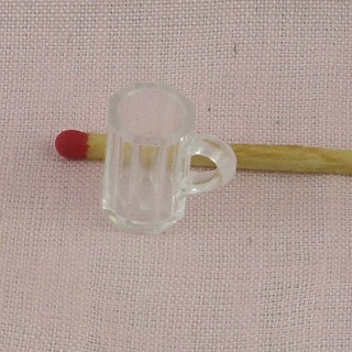 Tiny 1/12 beer plastic mug dollhouse 16 mm