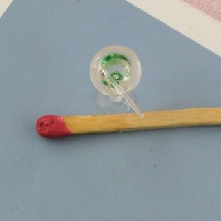verre rempli avec paille miniature maison poupée,