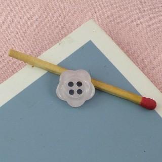 Flower plastic button 12 mm