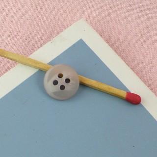 Bouton épais demi cone à coudre 1 cm