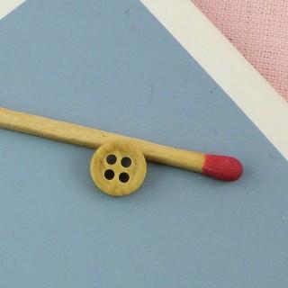 Boutons bois véritable, 2 trous, 10 mm, 1 cm.