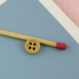 Small Wooden edged  buttons, button in wood 7 mms