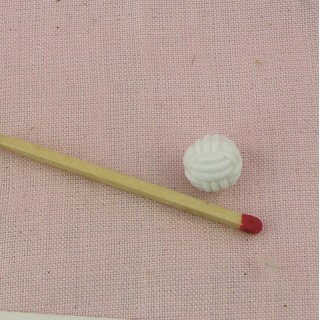 Ball shank button in plastic braided thread 1 cm.