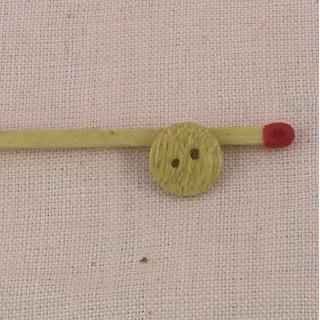 Botón corazón madera grabado 1cm