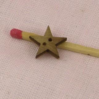 Bouton étoile bois 13 mm