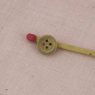 Botón madera grabado 8 mm