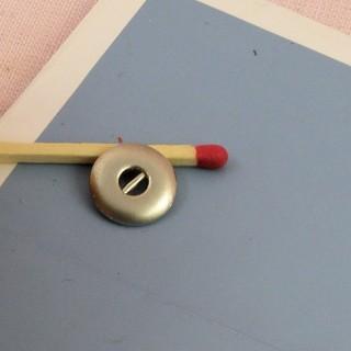 Botones mercería metal 2 partidas muñeca antigua 9 mm.