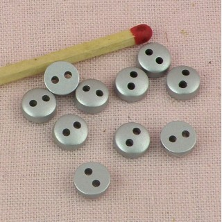 Round Button 6 mms 2 holes