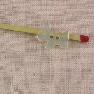 Bouton plastique chien 1 cm