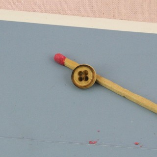 Knopf der geritzte Holz 8 mm.