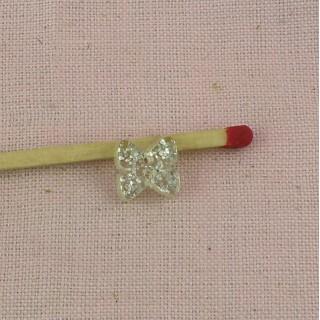 Knopf Plättchen Schmetterling Knoten 1 cm.