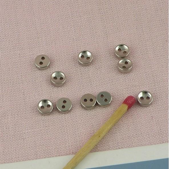 Botones mercería metal 5 mm mini