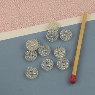 Buttons glitter butterfly 1 cm.