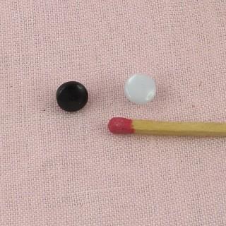 Shank plastic button 6 mms
