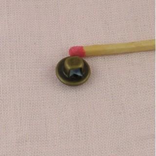 Botón costura esmaltado torre metal 1 cm